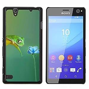 YiPhone /// Prima de resorte delgada de la cubierta del caso de Shell Armor - Primavera Rana linda flor Sweet Love Teal Naturaleza - Sony Xperia C4
