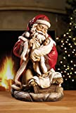 Santa with Baby Jesus 16 inch Christmas Sculpture Figurine Decoration