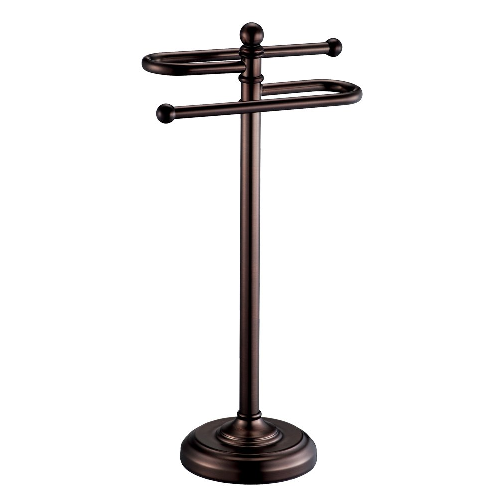 Gatco 1545BZ Countertop S-Style Towel Holder, Oil Rubbed Bronze by Gatco