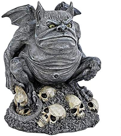 Design Toscano CL6140 Bone Chiller the Troll Gargoyle Statue,Gray Stone