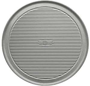 Premium USA 12.5 Inch Aluminium Steel Wide Rim Pizza Pan Bakeware with a Wheeler Cutter