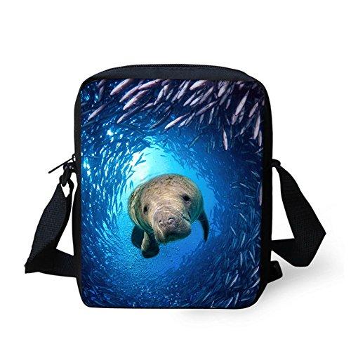 Sea Shoulder Schoolbag Small Crossbody Pattern Handbag Casual Travel HUGS Women's Bag IDEA Lion Kids Dolphin qAanwFZO