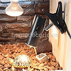 Viet-SC Habitat Lighting - Reptile Light with Clamp Ceramic Infrared Emitter Heat Lamp Bulb Stand 1 PCs