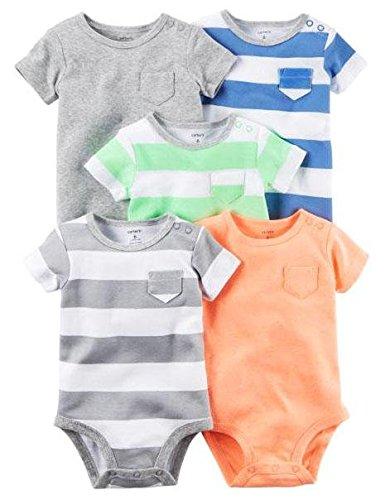 Carter's Baby Boys Multi-Pk Bodysuits 126g626, Blank, 6 Months Baby