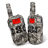 Walkie Talkies, 22 Channel FRS/GMRS Kids Walkie Talkies 2 Way Radio 3.7 Miles UHF Handheld Walkie Talkies for Kids (1 Pair) Camo