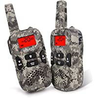 Walkie Talkies, 22 Channel FRS/GMRS Kids Walkie Talkies 2 Way Radio 3.7 Miles UHF Handheld Walkie Talkies for Kids (1 Pair) Camo, Toys for 5-year Old Boys and Girls
