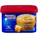 Maxwell House International Vanilla Caramel Latte Café Style Instant Coffee, 8.7 oz Canister