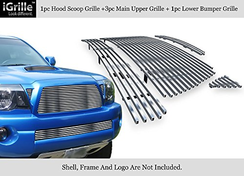 APS 304 Stainless Steel Billet Grille Grill Combo Fits 05-10 Toyota Tacoma TRD Sport #N19-C24778T