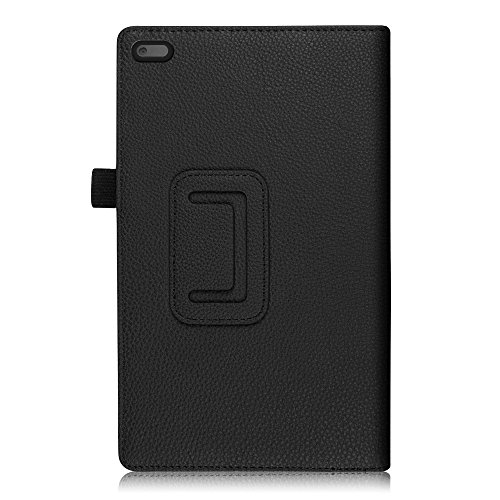 Fintie Lenovo Tab 4 8 Case - Premium PU Leather Folio Cover With Stylus Holder for Lenovo Tab4 8-Inch Android Tablet (2017 Release), Black by Fintie (Image #7)