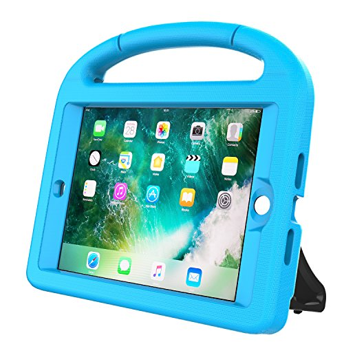 LEDNICEKER Kids Case for iPad Mini 1 2 3 - Built-in Screen Protector Light Weight Shock Proof Handle Friendly Convertible Stand Kids Case for iPad Mini, iPad Mini 3, iPad Mini 2 - Blue by LEDNICEKER (Image #4)