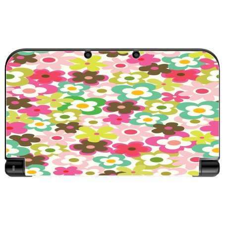 fun-flowers-daisys-colorful-new-3ds-xl-2015-vinyl-decal-sticker-skin-by-debbies-designs