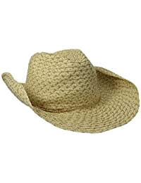 San Diego Hat Company womens Cowboy Hat With Lurex Paper and Metallic Trim