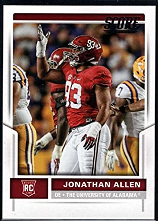 the latest cba33 ede84 Amazon.com: Football NFL 2017 Score Rookies #367 Jonathan ...
