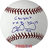 Miguel Montero Autographed Baseball Inscribed Caught NH 8-30-15 - Autographed Baseballs