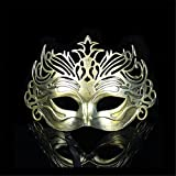 Face mask Shield Veil Guard Screen Domino False Front Ball Party mask Rustic mask Dance mask Man's mask Ancient Rome Fighter Crown mask Gold