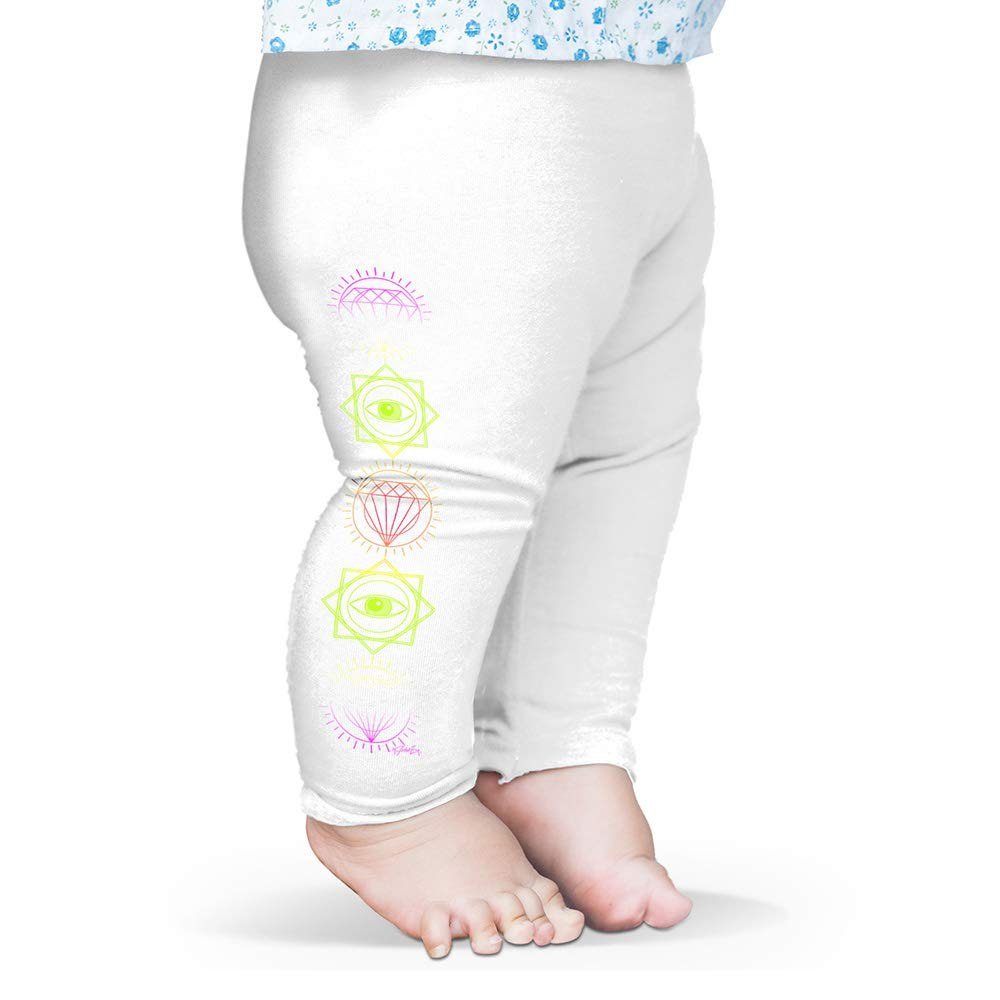 Twisted Envy Baby Leggings Illuminati Diamond Pattern Baby and Toddler Girls Leggings