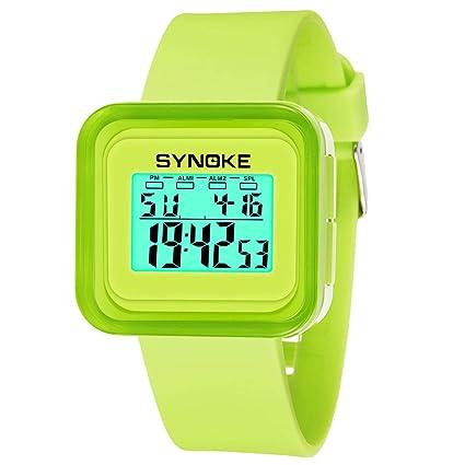 JQXB Reloj Digital, niños Impermeable Relojes de Pulsera con Alarma/Temporizador/Pantalla de