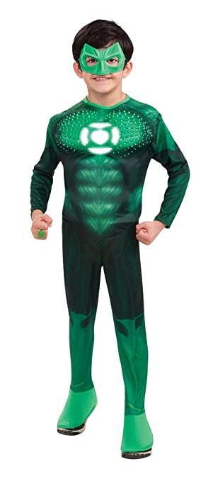 Amazon.com: Green Lantern Child\'s Deluxe Hal Jordan Costume with ...