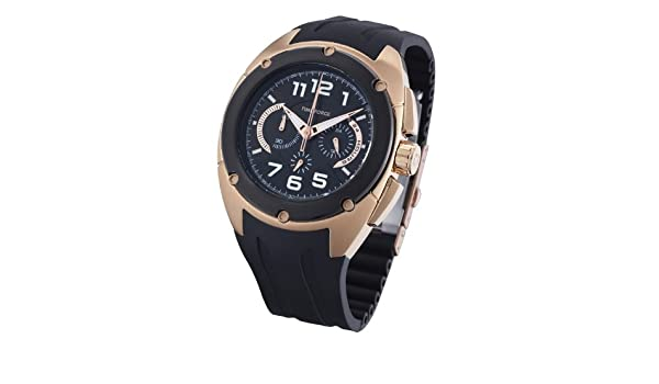 7c695115478a Time Force TF3132M15 - Reloj analógico de caballero de cuarzo con correa  negra  Amazon.es  Relojes