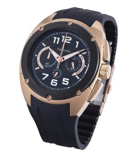 Time Force TF3132M15 - Reloj analógico de caballero de cuarzo con correa negra: Amazon.es: Relojes