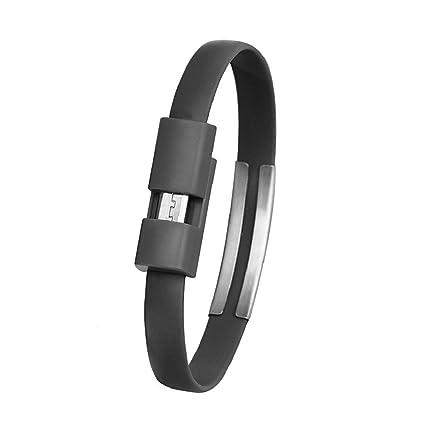 Cable del cargador micro USB de carga de sincronización de datos para Android del teléfono celular(negro)