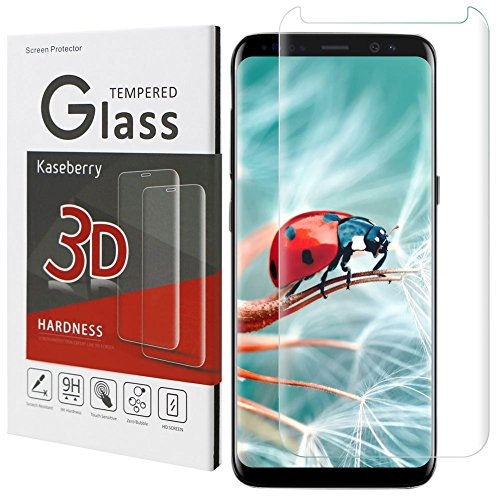 Galaxy S8 Screen Protector,Samsung S8 Tempered Glass Screen Protector,Kaseberry Glass Screen Protector for Samsung Galaxy S8[Bubble Free] [100% Case Friendly] - Eyeglasses To Clean How Scratches Off