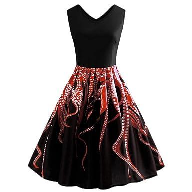 Floral de Navidad maxi atractivo estilo de la vendimia de la falda ...