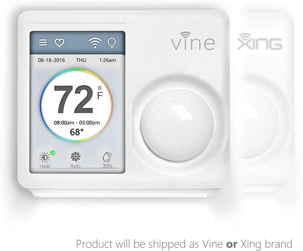 Vine WiFi 7day&8period Programmable Smart Home Thermostat - 2nd Gen