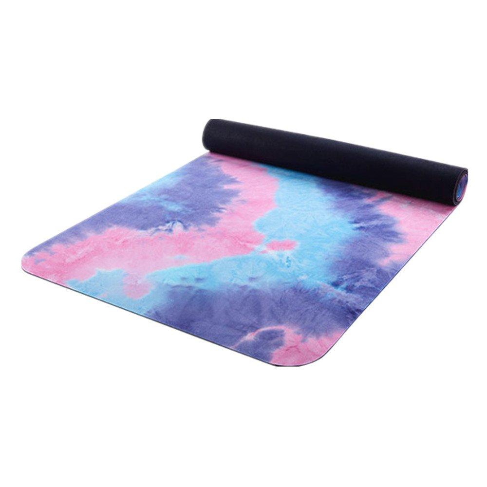 Rutschfeste Yogamatte mit Tragegurt Yoga Matte Pu 5mm Umweltfreundliche Köstliche Fitness-Matte Yoga-Matte Für Gym Familie