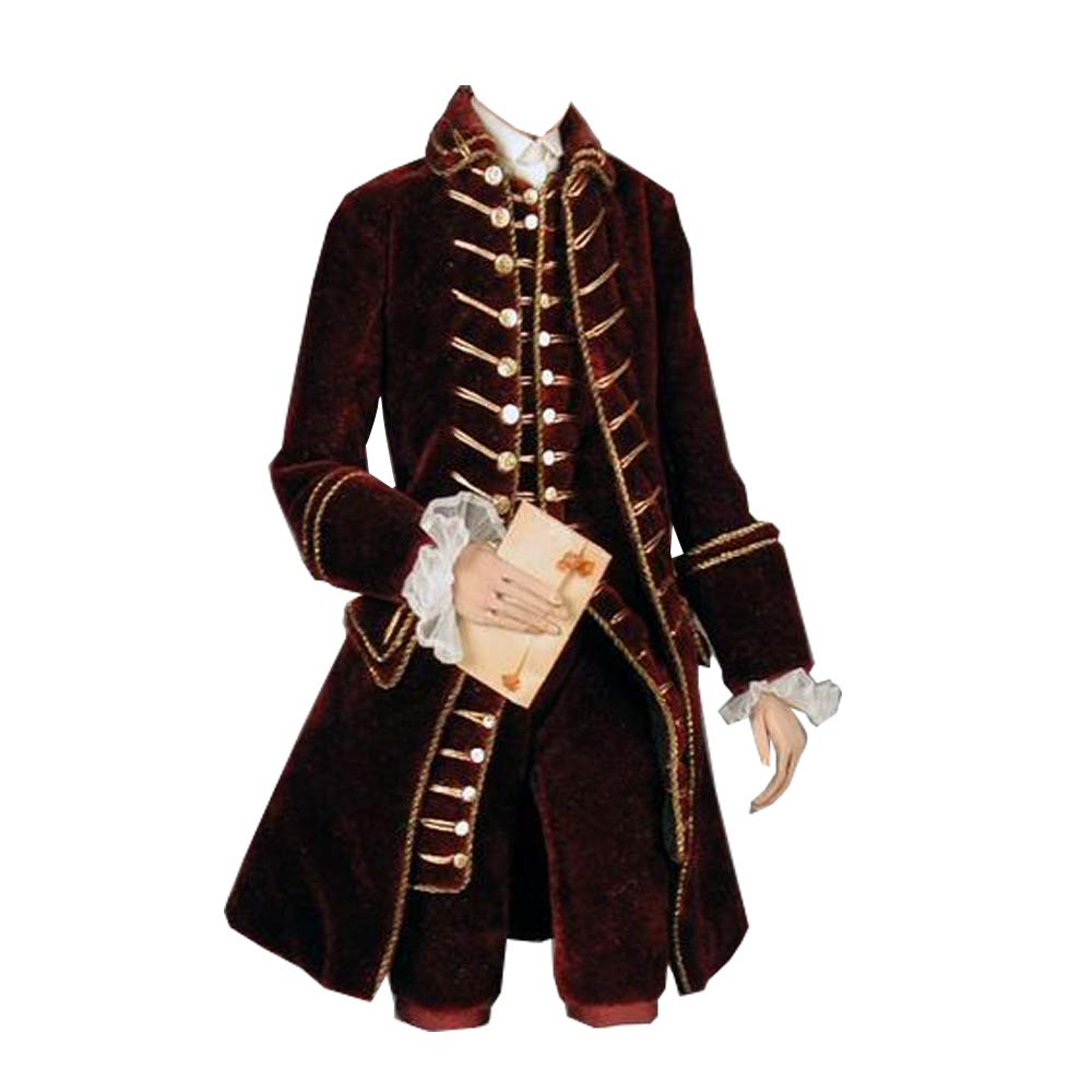 Masquerade Ball Clothing: Masks, Gowns, Tuxedos STH Medeival 18th Century Marie Antoinette Red Outfit for Men $154.00 AT vintagedancer.com