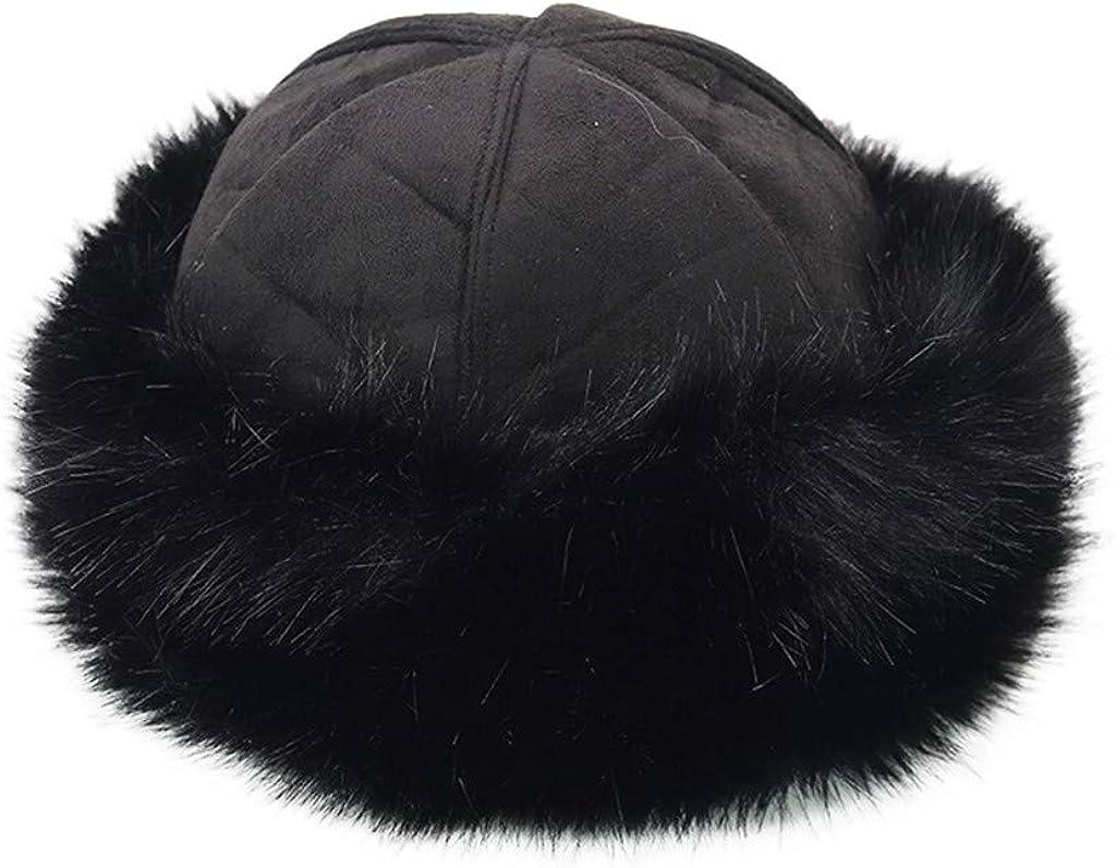 Frauen Winter mongolischen Hut solide dicke Warme solide Ohrensch/ützer Wollm/ütze