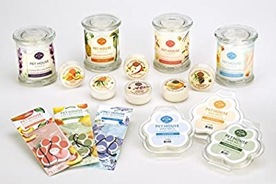 Pet House Candle - CLICK TO SEE ALL 12 FRAGRANCES - Natural Soy Wax - Long-lasting 70 hours - Paraffin Free - 100% Non-Toxic - Pet Odor Eliminating Candle - Animal Lover Gift