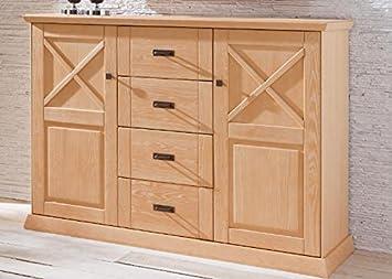 Schlafzimmer Kommode Gomero Pinie Teilmassiv Geburstet Gekalkt Holz