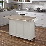 Home Styles Liberty Kitchen Cart with Wood Top
