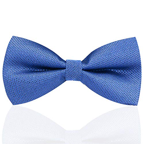 (Mens Tuxedo Bow Ties Formal Adjustable Pre-Tied Bow Ties Classic Satin Bowtie for Men Boys - Blue)