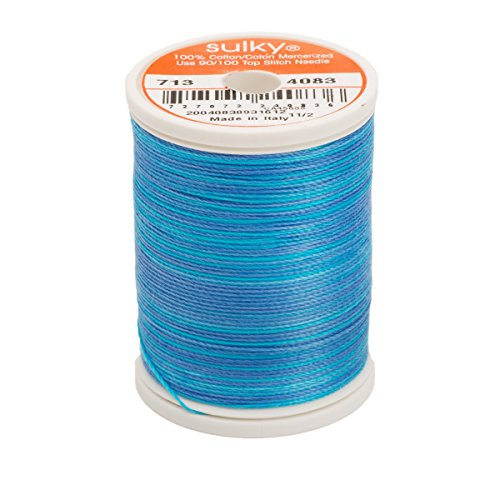 Sulky 713-4083 12-Weight Cotton Blendable Thread, 330-Yard, Sapphire
