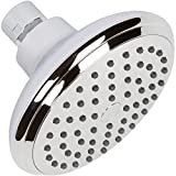 Duchas High Flow Shower Head - The 4 Inch Wall Mount Bathroom Showerhead Nozzle For Low Water Pressure Showers - Chrome
