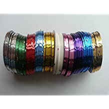 Yesurprise Pack of 10 rolls Nail Art Striping Tape Line Decoration design manicure ongle
