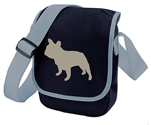 Grey Bulldog French Frenchie of Reporter Dog Walkers Bag Gift Dog Bulldog Bag Blue Colours Choice Bag French Bag Silhouette Shoulder qRaxR8dw