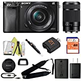 Sony Alpha a6000 Mirrorless Digitial Camera 24.3MP SLR Camera with 3.0-Inch LCD (Black) (16-50 & 55-210, Starter Kit)