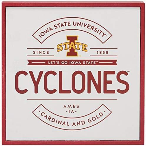Open Road Brands Iowa State University Cyclones Wood Wall D/écor