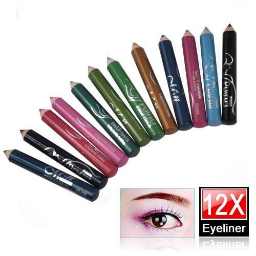 LE 12 couleurs assorties Cosmetic Eyeliner Crayon Sourcils Contours des yeux