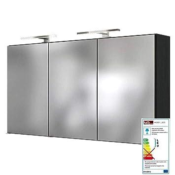 Lomadox Badezimmer Spiegelschrank LED Beleuchtung 120cm matt ...