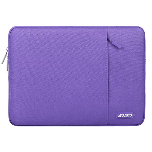MOSISO Laptop Sleeve Compatible 13 Inch MacBook Pro Touch Bar A1989 A1706 A1708 USB-C 2018 2017 2016 - Surface Pro 2017 - Dell XPS 13 - Polyester Water Repellent Vertical Bag with Pocket - Ultra Violet