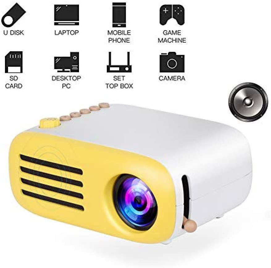 Mini LED Pocket Projector Home Beamer Kids Gift USB HDMI Video ...