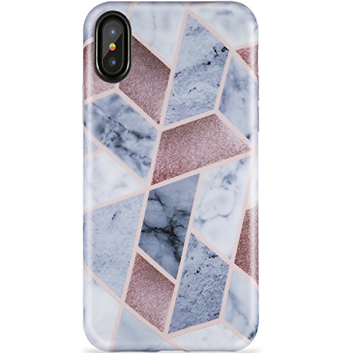 iPhone X Case,iPhone Xs Case, Marble Design,ZADORN Slim Fit Cute for Women Girls Clear Bumper Soft Silicone TPU Thin Cover Best Protective Phone Case for iPhone X/iPhone Xs[5.8]
