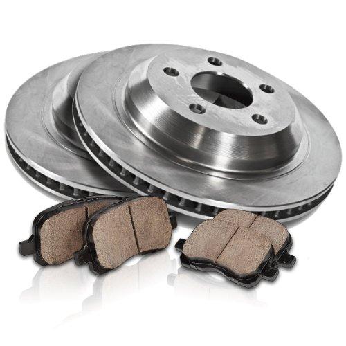 Callahan REAR Premium Grade OE 352.5 mm 8 Lug [2] Rotors + [4] Quiet Low Dust Ceramic Brake Pads Kit CK009577