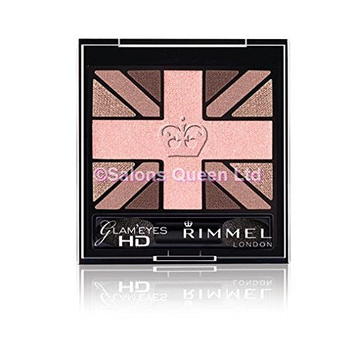 Rimmel Glam' Eyes HD Quad Eye Shadow Palette, English Rose,
