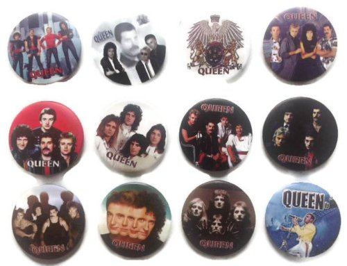 The Bigger Vivider 1.75'' Lot 12 Awesome Pin Button QUEEN band album brooch fan 2 by Queen