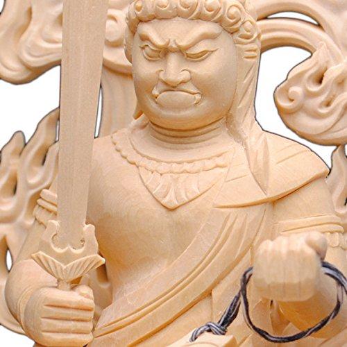 仏縁堂ブランド:【仏像】迫力満点、坐像不動明王3.0寸、高級檜上彫 B00OVREZI6